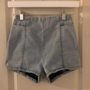 High Waist Denim Shorts 0